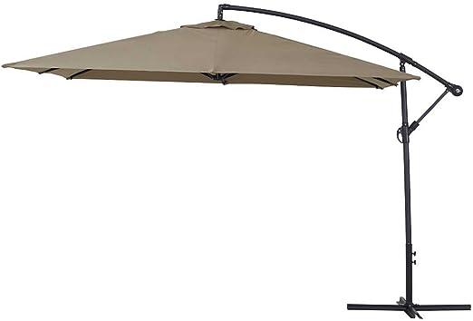 Parasol Lateral de jardín Aluminio Ilios 3 Cuadrado 3 x 3 m - Topo: Amazon.es: Jardín
