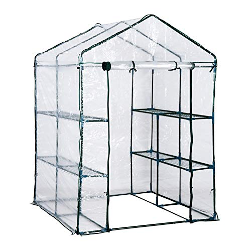 Outsunny 5' x 5' x 6' Portable Walk in Garden Steeple Greenhouse