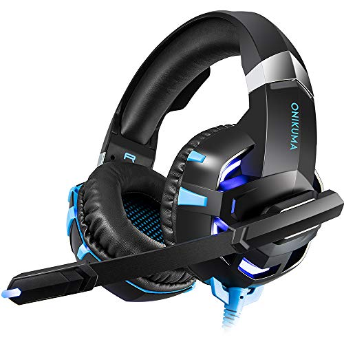 RUNMUS Gaming Headset Xbox One Headset with 7.1 Surround Sound Stereo, PS4 Headset with Noise Canceling Mic & LED Light, Compatible with PC, PS4, Xbox One Controller(Adapter Not ()