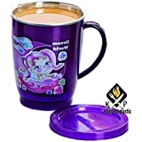 Khurana Plastic Tulip Kids Fun Unbreakable Hot Insulated Double Wall Stainless Steel Tea, Coffee and Milk Mug with Lid