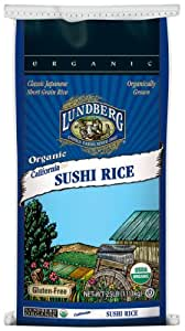 Lundberg Family Farms Organic Sushi Rice, California White, 400 Ounce (Pack of 1)