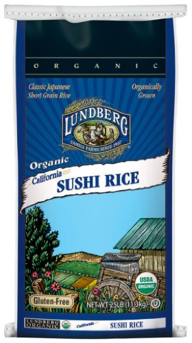 Lundberg Family Farms Organic Sushi Rice, California White, 32 Ounce by Lundberg