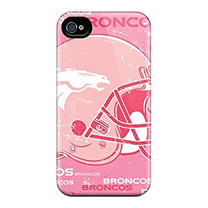 Anti-scratch And Shatterproof Denver Broncos Phone Case For Iphone 4/4s/ High Quality Tpu Case
