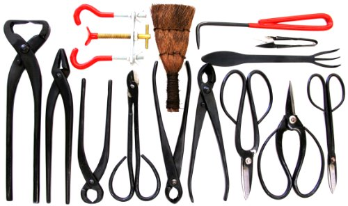Stanwood Bonsai Tool 14-Piece Carbon Steel Shear Set and Tool Kit Discontinued by Manufacturer by Stanwood Bonsai Tool