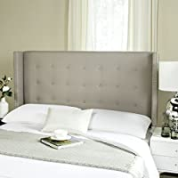 Safavieh Headboard Collection Keegan Headboard, Queen, Taupe