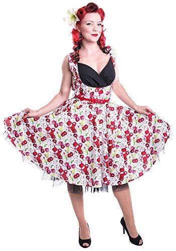 Dana Abito Cherry Summer Rockabella Bianco Bianco dqwCqf0