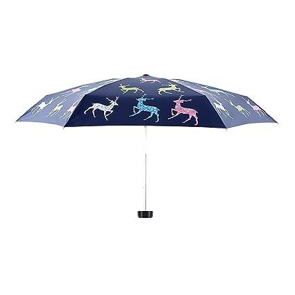 Paraguas Sombrillas Sombrilla de bolsillo Protección solar plegables Ultraligero Anti-UV Exterior Soleado Lluvia Doble