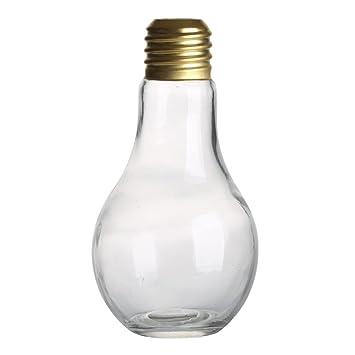 BESTOYARD 500ML bombilla de vidrio en forma de botella de bebida favores de partido para las bebidas cócteles de cervezas (color claro al azar): Amazon.es: ...