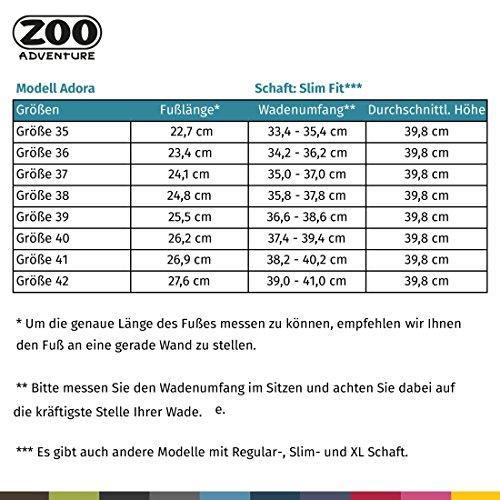 Zoo Adventure - Adora - Stivali Impermeabili In Pelle Per Donna E Donna In Agnello Foderato Caffè Marrone Caffè Marrone 022