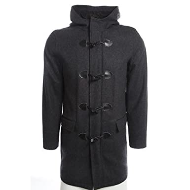 3add10051bba INC Men s Single Breasted Wool Blend Hooded Toggle Coat