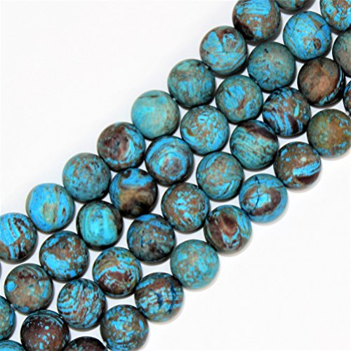 Lynxus 2mm Large Hole Matte Crazy Blue Lace Agate Natural Gemstone Loose Beads 10mm 37 Beads Per 15.5