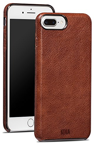 Sena Ultra Thin Snap on, Premium thin leather wrapped case for the iPhone 7 Plus - Cognac