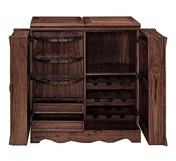 Inhouz INHZ0859(WL) Bar Cabinet (Brown)