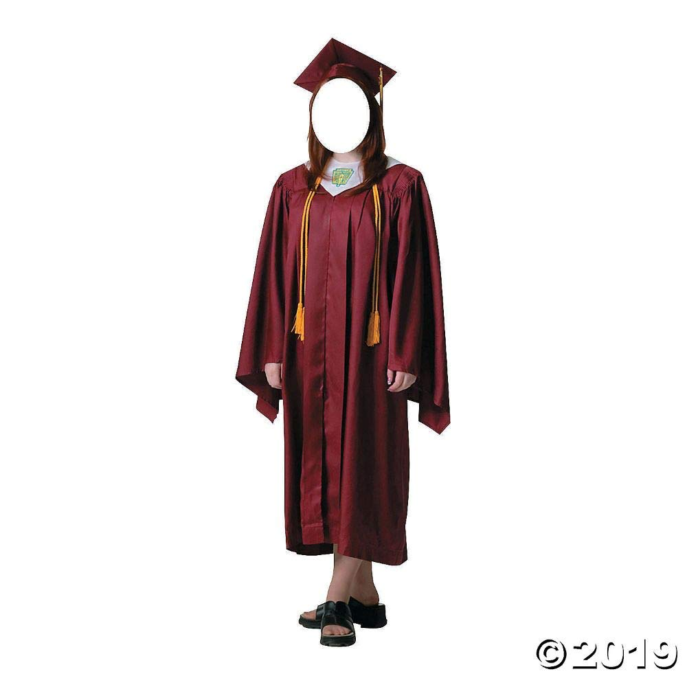 1 piece(s) Women's Red Cap & Gown Graduate Cardboard Stand-In Stand-Up