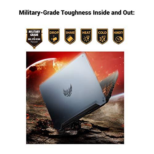 "ASUS TUF TUF506IU-ES74 Gaming A15 Gaming Laptop, 15.6"" 144Hz Full HD IPS-Type, AMD Ryzen 7 4800H, GeForce GTX 1660 Ti, 16GB DDR4, 512GB PCIe SSD, 90WHr Battery, RGB Backlit KB, Windows 10 Home"