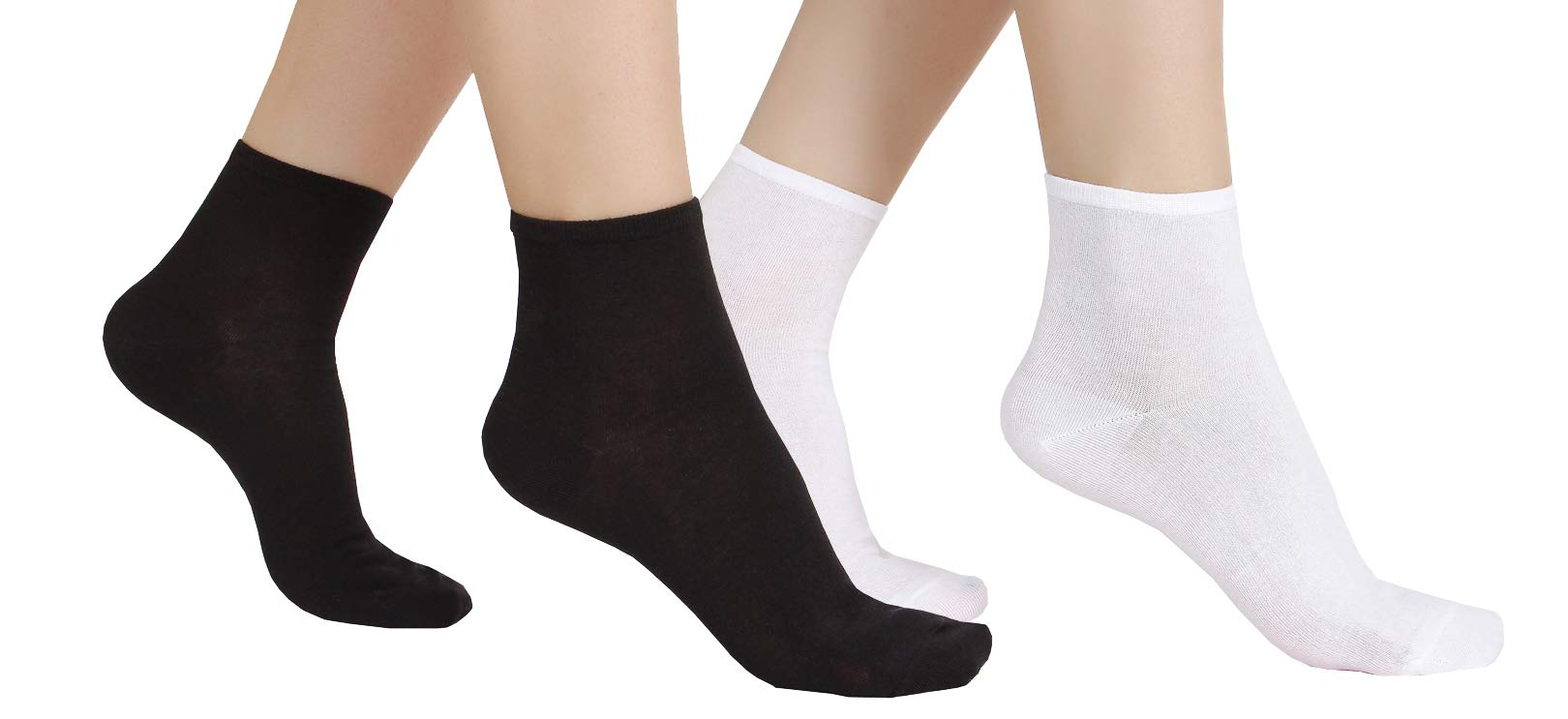 12 Pair Women's Ultra Thin Cotton Summer Ankle Crew Socks-A-S