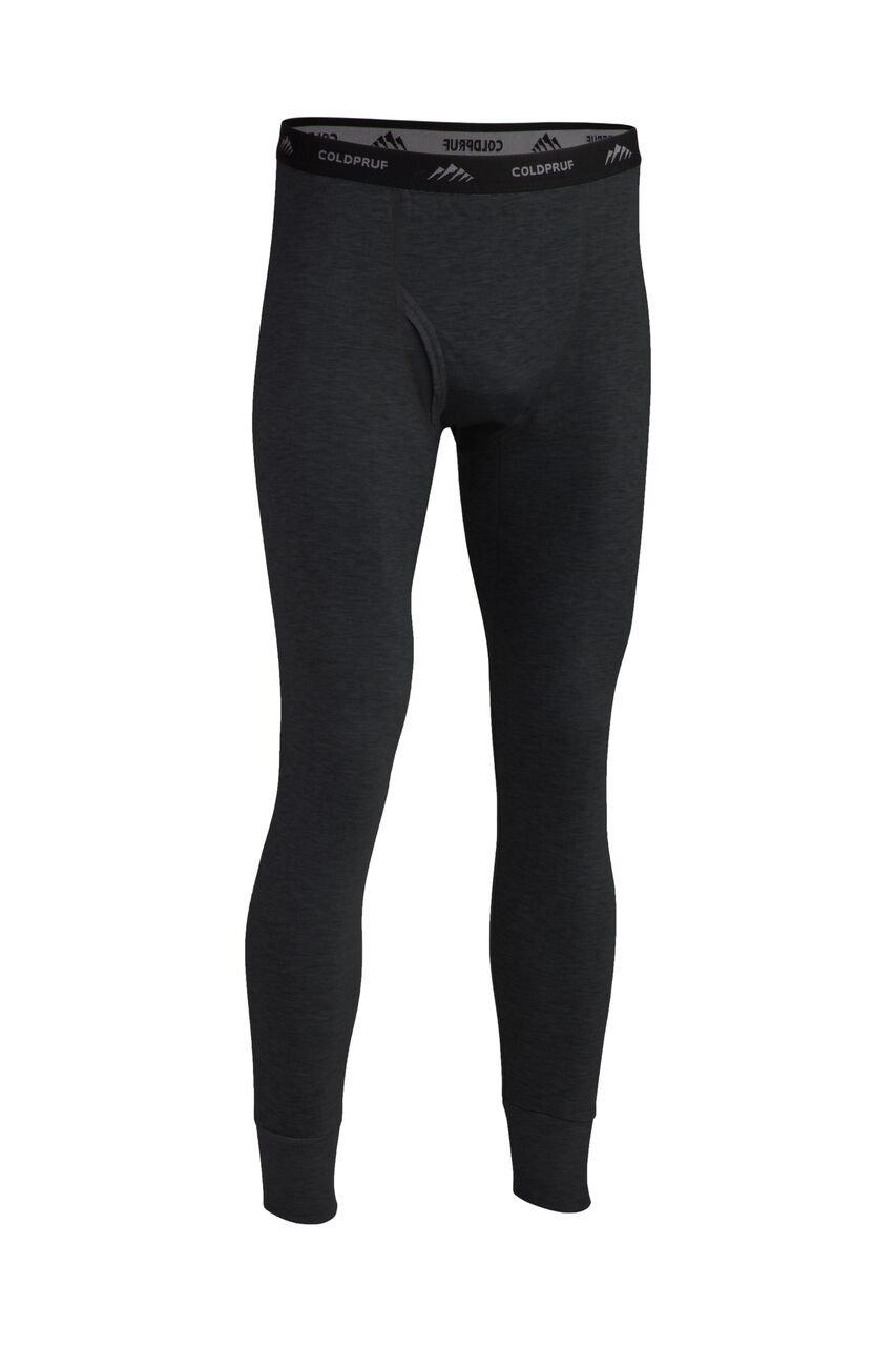 ColdPruf Men's Platinum II Performance Base Layer Tall Pant, Black, Large Tall