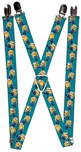 Buckle-Down Suspenders - Hanging Minions Green Accessory, -Multi-Colored, One - Suspenders Minion