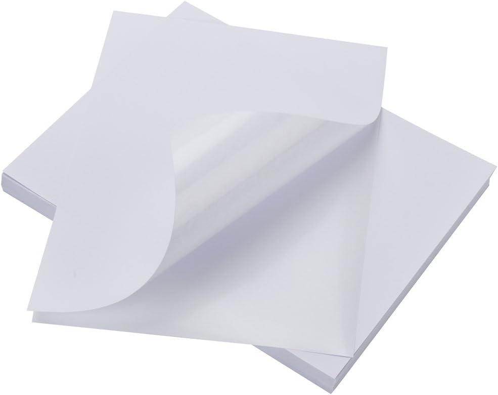 matte white sticker paper for ink jet and laser jet printers