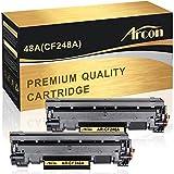Arcon Compatible Toner Cartridge Replacement for HP 48A CF248A HP M15W HP M28W M29W HP Laserjet Pro M15w M15a M16a M16w HP Laserjet MFP M28w M28a M29a MFP M29w 48A CF248A Printer Toner (Black,2Packs)