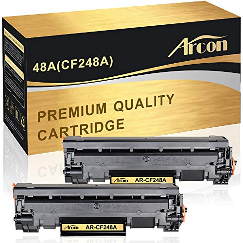 Arcon Compatible Toner Cartridge Replacement for HP 48A CF248A HP M15W HP M28W M29W HP Laserjet Pro M15w M15a M16a M16w HP Laserjet MFP M28w M28a M29a MFP M29w 48A CF248A Printer Toner (Black,2Packs)