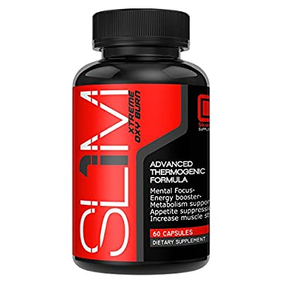 Slim Xtreme Appetite Suppressant Dietary Supplement | Fat Burner & Metabolism Booster | Weight Loss & Energy | Thermogenic Formula | Mental Focus | Men & Women | All Natural | USA Made | Capsules