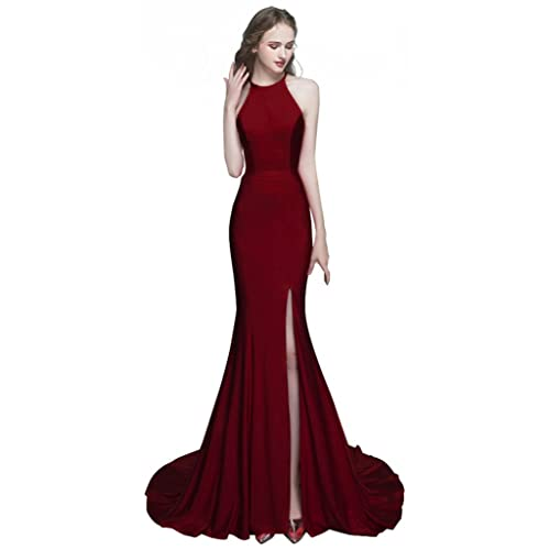 ROSAFASHION Womens Mermaid Prom Evening Dress Long