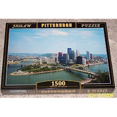 PUZZLE~1500 PIECES~CITY OF PITTSBURGH, PENNSYLVANIA~NEW AND SEALED: Toys & Games