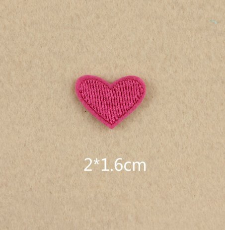 Lot of 20 Little Red Hearts Embroidered Iron On Applique Patches DIY 20x16mm (R056)