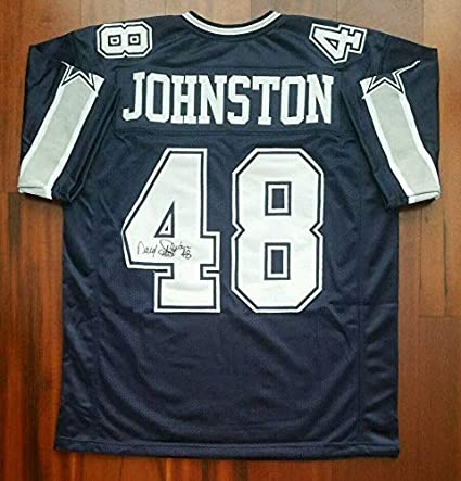 "256b0d036a8 Image Unavailable. Image not available for. Color: Daryl""Moose"" Johnston  Autographed Signed Jersey Dallas Cowboys ..."