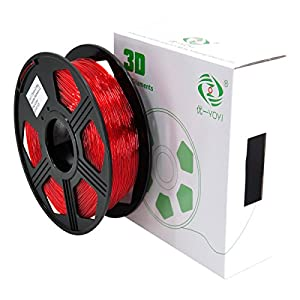 YOYI 3D PETG Filament 1.75mm PETG 3D Printer Filament 1KG Diameter Tolerance +/- 0.05 mm, 1 KG Spool, 1.75 mm PETG (Red) from YOYI