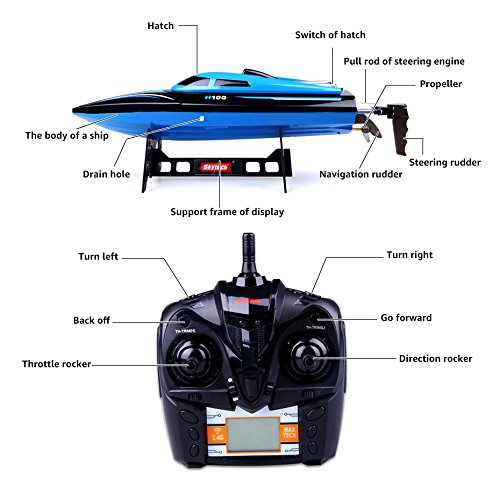 Rc Boat High Speed Remote Control Boat 2 4ghz Fast Rc Boat For Pools And Lakes For Outdoor Blue