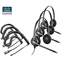 Plantronics 3x HW261N Headset 3x Adapter Cable Bundle for Cisco 6921 6941 6945 6961 7821 7841 7861 7931G 7940 7941 7942G 7945 7960 7961 7962G 7965G 7970 7971G 7975G 7985G 8811 8841 8851 8861 8865 8941