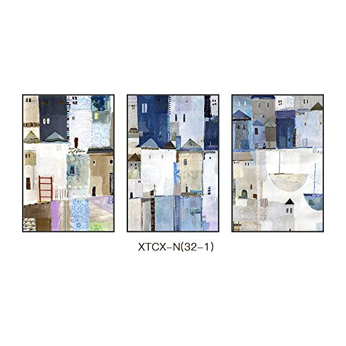 PLLP Abstract pattern character hanging painting, modern simple European style creative style with frame decoration painting, wall decoration painting, fashion living room painting,B,5070