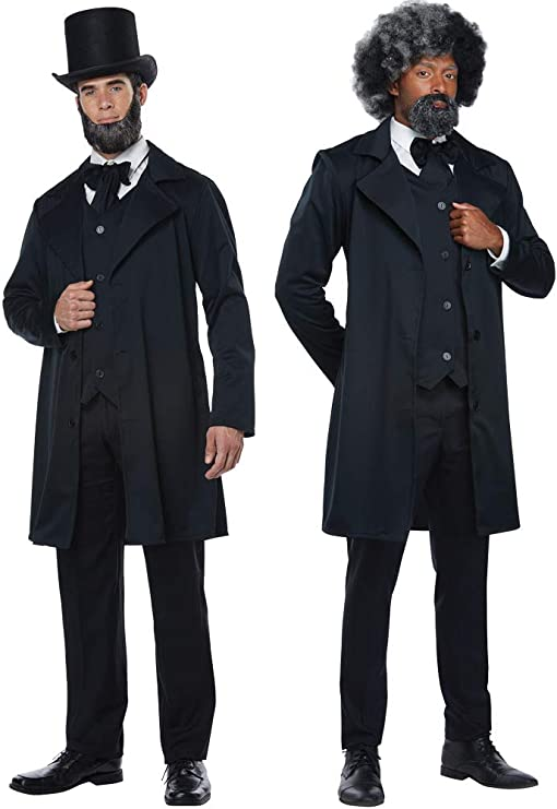 Victorian Men's Costumes: Mad Hatter, Rhet Butler, Willy Wonka California Costumes Abraham Lincoln Frederick Douglas Outfit Halloween Costume $36.84 AT vintagedancer.com