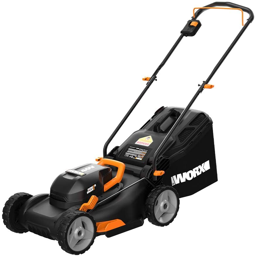 "Worx WG743 40V PowerShare 4.0Ah 17"" Lawn Mower"