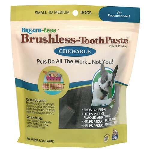 Brushless Chewable Toothpaste (Ark Naturals Breath~less Brushless Chewable Toothpaste, Small/Medium 12 oz)