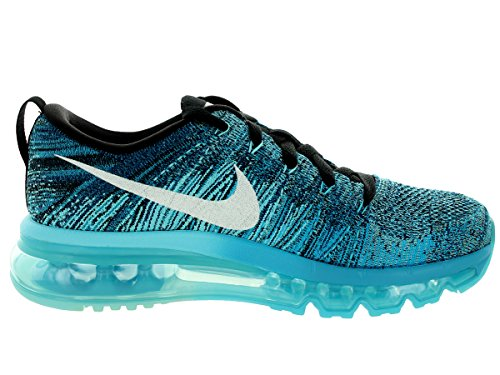 Nike Womens Flyknit Max Scarpa Da Running Nero / Bianco / Piscina Di Marea Blu / Legione Blu