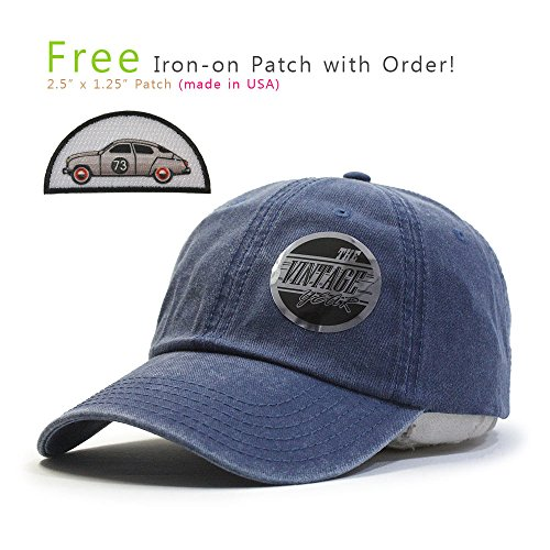 Plain Washed Cotton Twill Baseball Cap with Adjustable Velcro (Navy 73B)