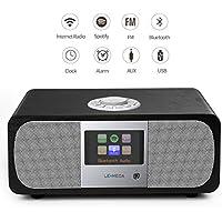 M3+ Wi-Fi/DLNA/Spotify connect /Internet Radio/ FM radio with Bluetooth and Clock 2.1 Speaker system (Black Oak)