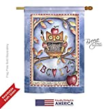 Cheap Breeze Decor H115107 Owl Live Laugh Learn Special Occasion School and Education Decorative Vertical House Flag, 28″ x 40″, Multicolor