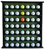 Golf Gift 49-Ball Cabinet Display Case Rack, No Door, Black, GB20-BL