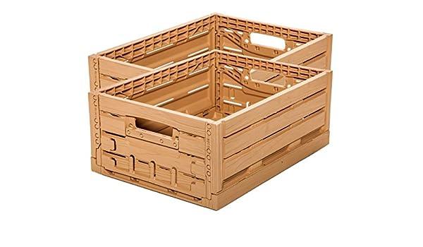 Diseño de madera 2 Stk fruta (Caja con tapa Caja de almacenamiento Caja de manzana 400 x 300 x 165 mm invitados Lando: Amazon.es: Industria, ...