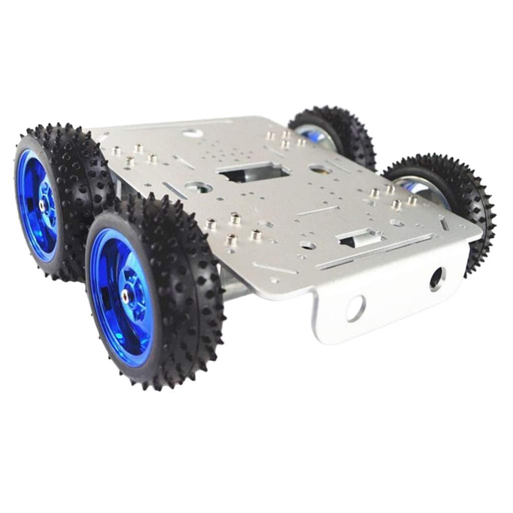 SM SunniMix DIY Legierung Roboter C300 4WD Tank Kit Chassis Smart Auto Plattform Kit Tank Für Arduino (farben auswählen) - Silberchassis ca1b9f