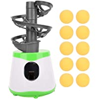 Alomejor Máquina automática de Bolas Entrenador de Tenis de Mesa Robot Lanzador de Ping Pong Lanzador Ejercitador con 10 Bolas para niños