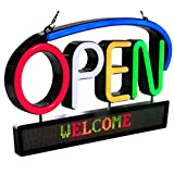 ROYAL SOVEREIGN RSB-1350E OPEN Sign with Scrolling Messenger, Eng, Black