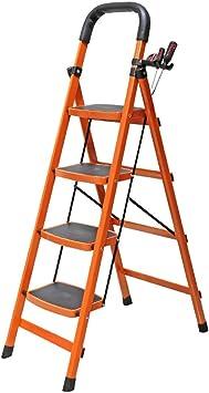 Escaleras Escalera de mano plegable, Escalera de acero de 4 ...