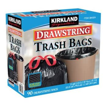 Amazon Com Kirkland Signature Drawstring Trash Bags 33