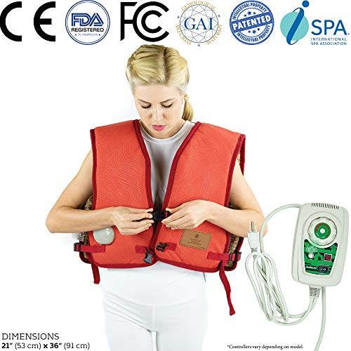 (HL HEALTHYLINE - Far Infrared Amethyst Vest Pad for Neck and Shoulders -35in x 20in - Adjustable Straps - Negative Ions - FIR Therapy -Auto Shut Off, Timing, Temperature Settings - FDA Reg Manufacture)