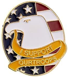 Nosotros bandera tienda I Support Our tropas Eagle Pin de solapa